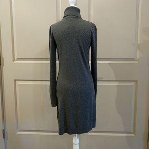 Adrienne Vittadini Dresses - Gray turtleneck sweater dress